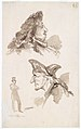 Sheet of Studies- Two Male Heads in Profile and Standing Man MET DT6327.jpg