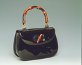 Shenkar Archive - Bag Collection. Black bag with stained bamboo handle.tiff