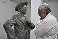 Shrikant Pathak Inspecting Raj Kapoor Sculpture - Kolkata 2017-08-08 4157.JPG
