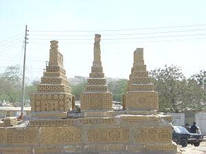 Pir Mangho - Gravemarkerts of the Sufi saint, Pir Mangho.