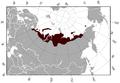 Siberian Brown Lemming Lemmus sibiricus distribution map.png