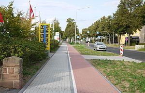 Sidewalk - Sidewalk with bike path
