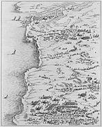 Siege de la Rochelle par louis XIII et Richelieu du 10 aout 1627 au 28 octobre 1628 planche 4 Jacques Callot 1592 1635