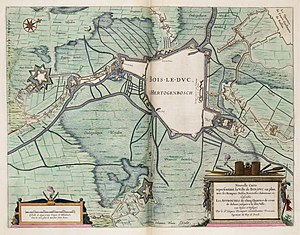 Siege of 's-Hertogenbosch - Map of the siege of Den Bosch in 1629. Joan Blaeu.