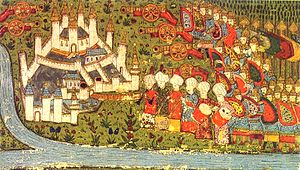 Siege of Belgrade 1456, Belgrade was successfully defended by John Hunyadi. Siegebelgrade.jpg