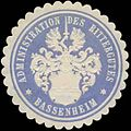 Siegelmarke Administration des Rittergutes Bassenheim W0328177.jpg