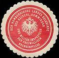 Siegelmarke Der Hamburgische Landes Delegirte des K. Kommissar und Militär Inspekteur der freiwilligen Krankenpflege W0361493.jpg