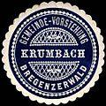 Siegelmarke Gemeinde-Vorstehung Krumbach - Bregenzerwald W0261557.jpg