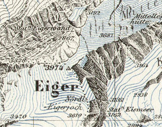 Eiger - The Eiger on the Siegfried Map