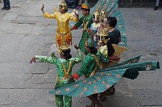 Peacock dance - Cambodian peacock dance
