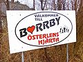 Sign-Welcome to Borrby.JPG