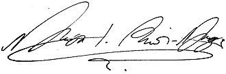 Nicholas I of Montenegro - Image: Signature of Nicholas I Petrović Njegoš