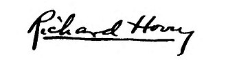 Richard Hovey - Image: Signature of Richard Hovey