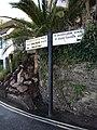 Signpost on Beach Rd, Babbacombe.jpg