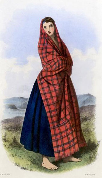 Clan Sinclair - A Victorian era, romanticised depiction of a member of the clan by R. R. McIan, from The Clans of the Scottish Highlands, published in 1845.