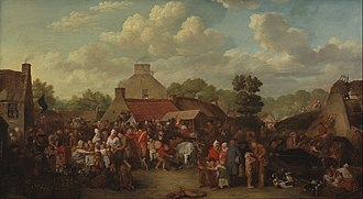1804 in Scotland - Image: Sir David Wilkie Pitlessie Fair Google Art Project