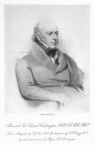 Edward Codrington - Lithograph of the Admiral, circa 1897