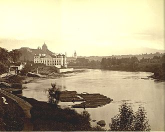 Slushko Palace - View of Slusko Palace in 1873