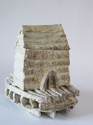 Nina Hole - Small House Sculpture by Nina Hole