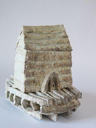 Nina Hole - Small House Sculpture by Nina Hole