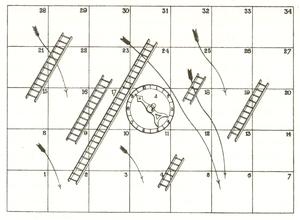1893 patentiertes Spielbrett