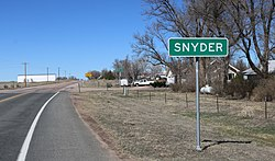 Snyder, looking north on Colorado State Highway 71.