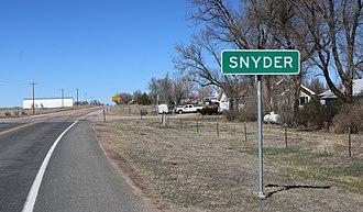 Snyder, Colorado - Snyder, looking north on Colorado State Highway 71.