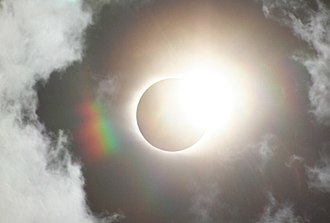 Western Carolina University - Solar eclipse as seen from campus of WCU.