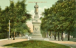 Bath, New York - Bath Soldiers Monument.