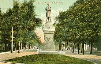 Bath, New York - Bath Soldiers Monument.
