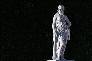 Sculptures in the Schönbrunn Garden - Statue of Omphale in the Schönbrunn Garden