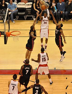 Sonny Weems - Weems taking a jumpshot for the Raptors in a game against Miami, November 20, 2009