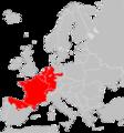 Sorex coronatus range Map.png