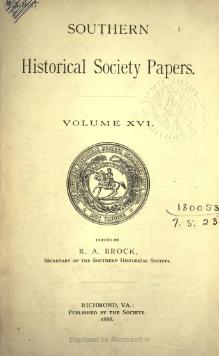 Southern Historical Society Papers volume 16.djvu
