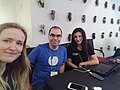 Sparrow, Ruben Ojeda and Armine from Armenia at Water sustainability edit-a-thon.jpg