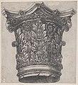 Speculum Romanae Magnificentiae- Capital with ram heads and masks MET DP870188.jpg