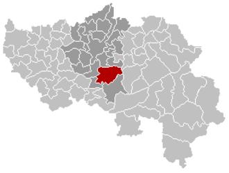 Sprimont - Image: Sprimont Liège Belgium Map