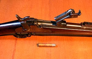 Breechblock - Springfield model 1888, breech open