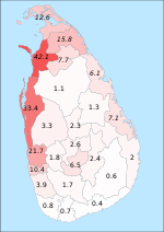 Sri Lanka Christians.svg
