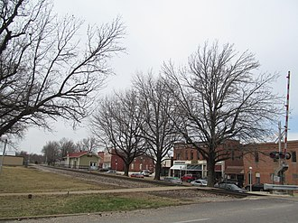 St. James, Missouri - Business District of St. James in 2014