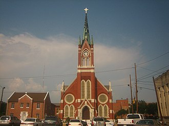 Monroe, Louisiana - St. Matthews Catholic Church in downtown Monroe