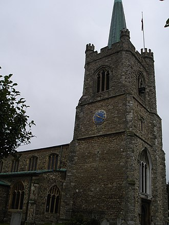 Hornchurch Priory - St Andrew's Church, Hornchurch, on the site formerly occupied by the monastic foundation