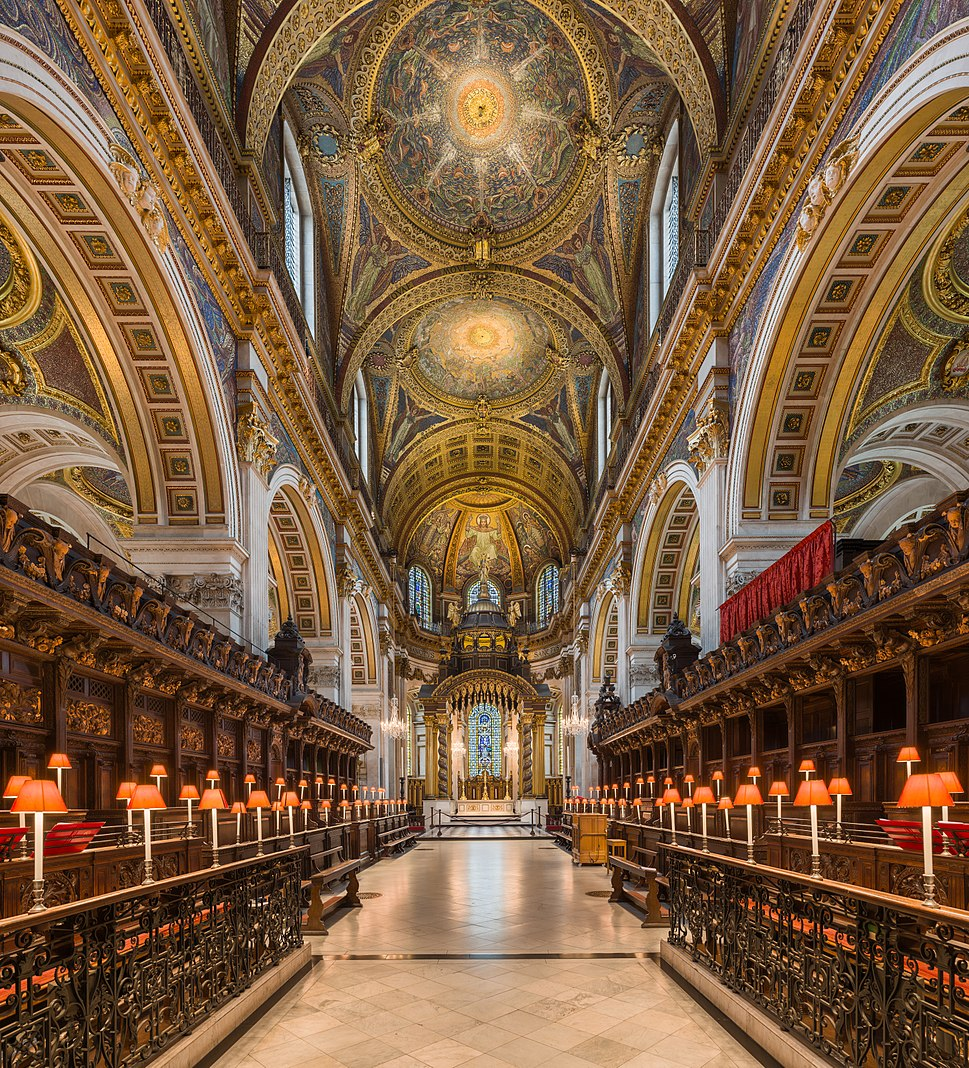 St Paul's Cathedral Choir looking east, London, UK - Diliff
