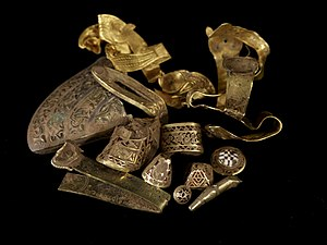 Staffordshire - The Staffordshire Hoard, discovered in a field near Lichfield in July 2009, is perhaps the most important collection of Anglo-Saxon objects found in England