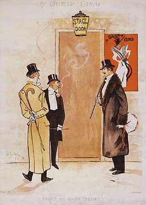 A Gaiety Girl - Stage Door Johnnies waiting after A Gaiety Girl