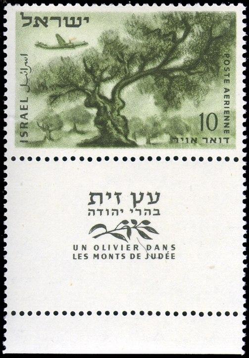 Stamp of Israel - Airmail 1954 - 10mil