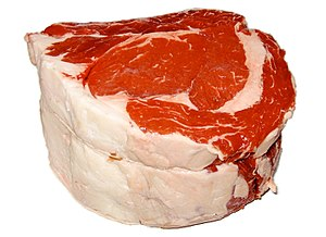 English: USCA Choice standing rib roast (2 bone).