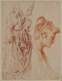 Standing Woman Holding a Spindle, and Head of a Woman in Profile to Right MET 23.280.5.jpg