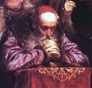 Stanisław Karnkowski - Portrait of Stanisław Karnkowski at prayer by 19th-century painter Jan Matejko