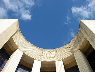 Hall of State - The curved exedra at the entrance of the Hall of State